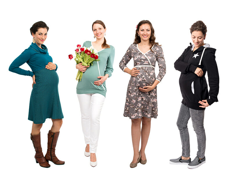 Maternity fashion from Viva la Mama - four examples of our collection