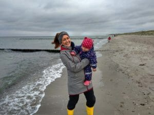 Windproof softshell coats are ideal for walking by the sea