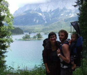 Katja and her familie during a hiking trip