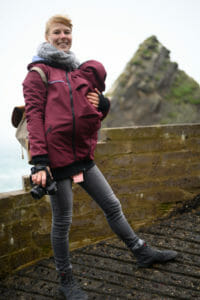 Softshell carrying jackets are ideal when hiking with baby